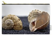 Seashells On Black Sand Carry-all Pouch