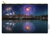 Seattle Skyline And Fireworks Carry-all Pouch