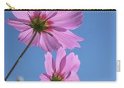 Sensation Cosmos Bipinnatus Pink Cosmos Standing Up Towerd Sky Carry-all Pouch