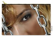 Sensual Woman Face Behind Chains Carry-all Pouch