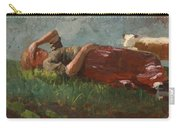 Shepherd Girl Resting Carry-all Pouch