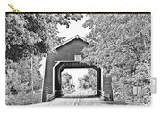 Shimanek Covered Bridge -surreal Bw Carry-all Pouch