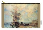 Ship In Harbour Rouen Albert-charles Lebourg Carry-all Pouch