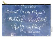 Silent Night Holy Night Carry-all Pouch