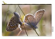 Silver-studded Blue Butterflies Carry-all Pouch