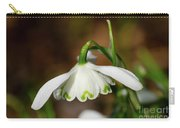 Single Snowdrop Carry-all Pouch