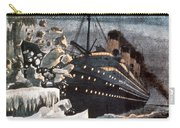 Sinking Of The Titanic Carry-all Pouch by Granger