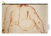 Sitting Fat Nude Woman Carry-all Pouch