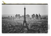 Skyline Of Paris In Black And White Carry-all Pouch