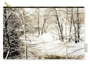 Snow-covered Stream Banks, Pennsylvania Carry-all Pouch
