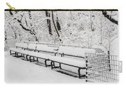 Snow In Central Park Nyc Carry-all Pouch