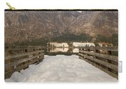 Snowy Alpine Lake Carry-all Pouch
