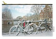 snowy Amsterdam in the Netherlands Carry-all Pouch