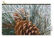Snowy Pine Cones Carry-all Pouch