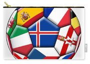 Soccer Ball With Flag Of Iceland In The Center Carry-all Pouch