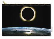 Solar Eclipse From Above The Earth - Infrared View Carry-all Pouch