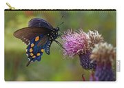 Spicebush Swallowtail On Bull Thistle Carry-all Pouch