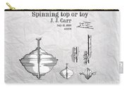 Spinning Top Or Toy Patent Art Carry-all Pouch
