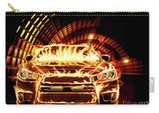 Sports Car In Flames Carry-all Pouch