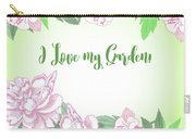 Spring  Background With White And Pink Peony Carry-all Pouch