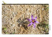 Spring Sand Crocus Flower Carry-all Pouch