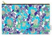 Spring Summer Flowers In Vintage Style. Seasons Floral Pattern Carry-all Pouch