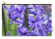 Spring Time With Blooming Hyacinth Flowers In A Garden Carry-all Pouch