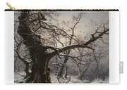 Stag In A Snow Covered Wooded Landscape Carry-all Pouch