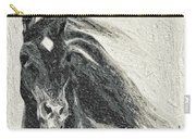 Stallion In Winter Carry-all Pouch
