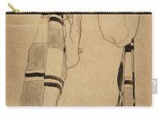 Standing Girl Carry-all Pouch
