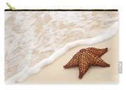Starfish And Ocean Wave Carry-all Pouch by Elena Elisseeva