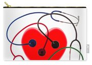 Stethoscopes And Plastic Heart Carry-all Pouch