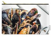 Stewed Fresh Mussels In Spicy Garlic Wine Seafood Sauce Carry-all Pouch