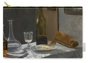 Still Life With Bottle Carafe Bread And Wine Carry-all Pouch