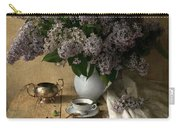 Still Life With Bouquet Of Fresh Lilacs Carry-all Pouch