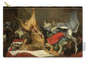 Still Life With Dead Game, A Monkey, A Parrot, And A Dog Carry-all Pouch