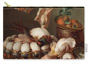 Still Life With Dressed Game, Meat And Fruit Carry-all Pouch