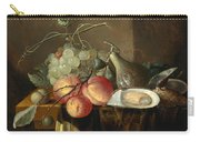 Still Life With Fruit And Oysters On A Table Carry-all Pouch