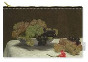 Still Life With Grapes And A Carnation Carry-all Pouch