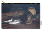 Still Life,cod And Mackerel Carry-all Pouch