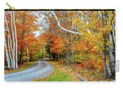 Stone Autumn Road Carry-all Pouch
