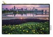 summer flowers and Chicago skyline Carry-all Pouch