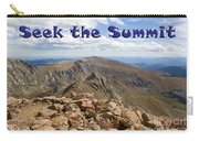 Summit Of Mount Bierstadt In The Arapahoe National Forest Carry-all Pouch