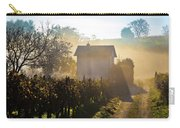 Sun Rays In Morning Fog Vineyard View Carry-all Pouch
