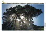 Sunbeams From Large Pine Or Fir Trees On Coast Of San Francisco  Carry-all Pouch