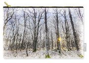 Sunrise Snow Forest Art Carry-all Pouch