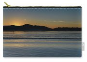 Sunrise Waterscape And Silhouettes Carry-all Pouch