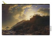 Sunset After A Storm On The Coast Of Sicily Carry-all Pouch