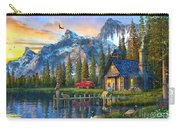 Sunset At Log Cabin Carry-all Pouch