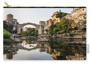 Sunset Over The Famous Mostar Bridge Carry-all Pouch